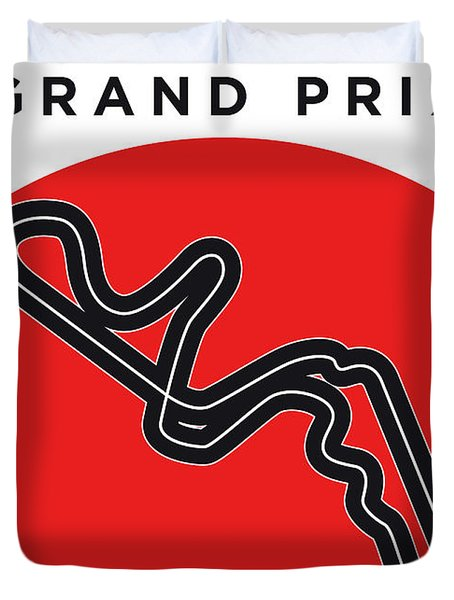 My Japanese Grand Prix Minimal Poster Duvet Cover