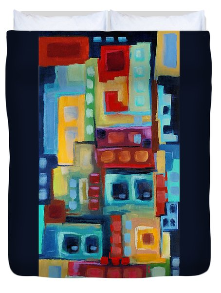 Duvet Cover featuring the painting My Jazz N Blues 3 by Holly Carmichael