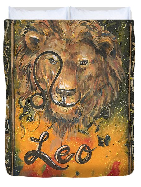My Leo  Duvet Cover