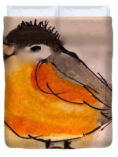 My Little Chickadee Duvet Cover