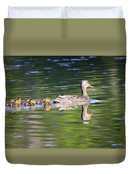 Duvet Cover featuring the photograph My Little Family by Gary Hall