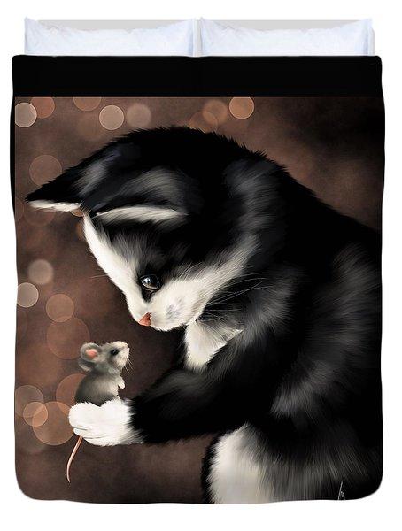 My Little Friend Duvet Cover by Veronica Minozzi