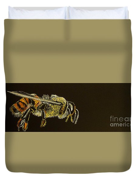 My Little Honey Bee Duvet Cover by Stuart Engel