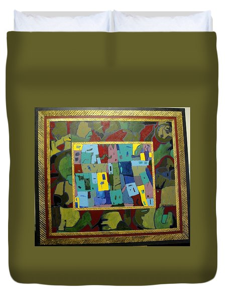My Little Town Duvet Cover by Bernard Goodman