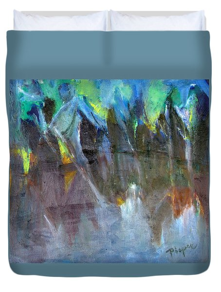 Duvet Cover featuring the painting My Mohawk by Betty Pieper