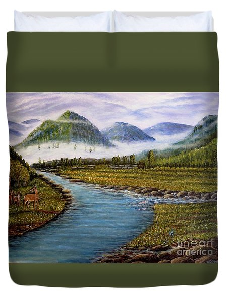 My Morning Walk With God Duvet Cover
