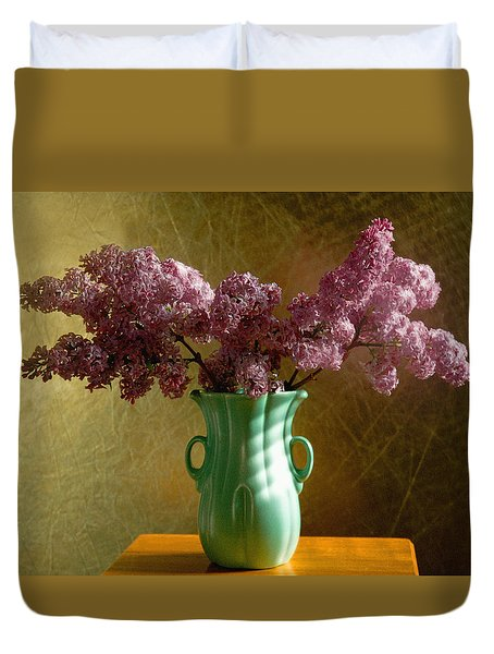 My Mother's Lilacs Duvet Cover by Wendy Blomseth