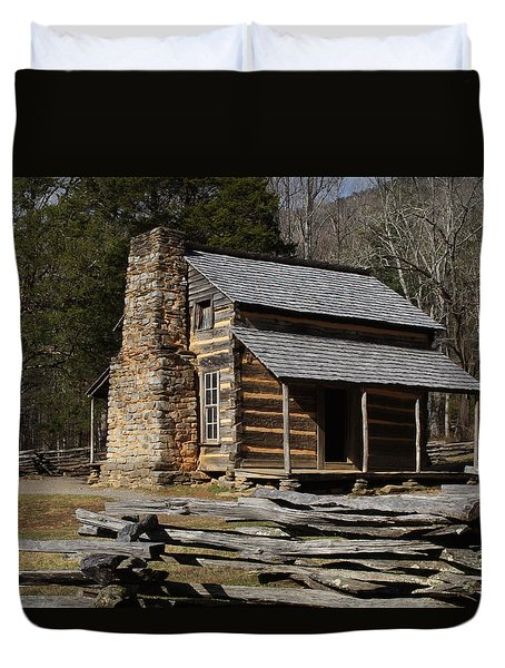 My Mountain Home Duvet Cover by B Wayne Mullins
