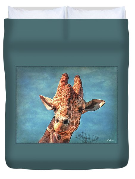 Duvet Cover featuring the photograph My Name Is Bingwa by Hanny Heim