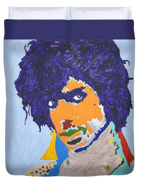 My Name Is Prince  Duvet Cover by Stormm Bradshaw