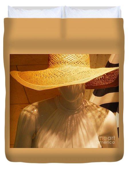 My New Summer Hat Duvet Cover