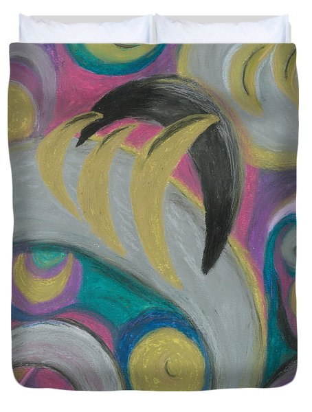 Duvet Cover featuring the painting My New Universe by Ania M Milo