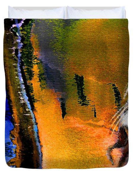 My Oasis Duvet Cover by Miki De Goodaboom