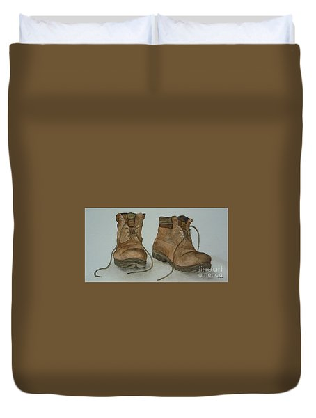 My Old Hiking Boots Duvet Cover