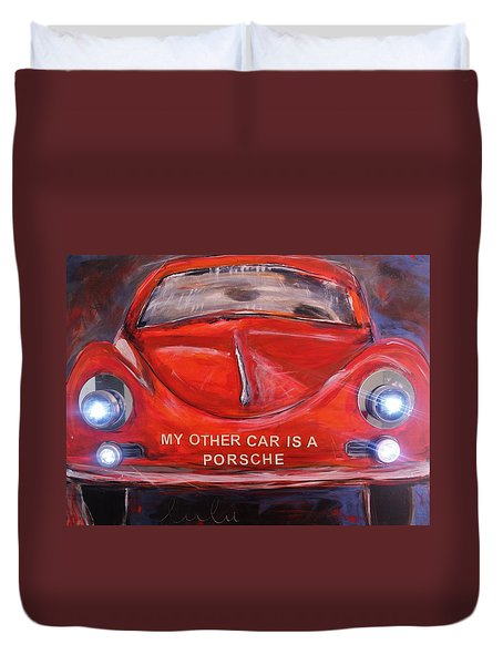 My Other Car Is A Porsche Lights On Duvet Cover