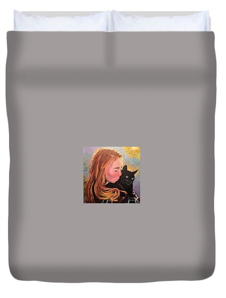 My Purring Friend Whiskers Duvet Cover