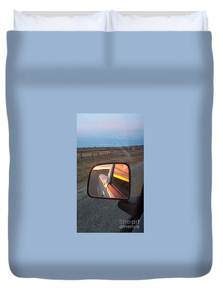 My Rear View Mirror Duvet Cover