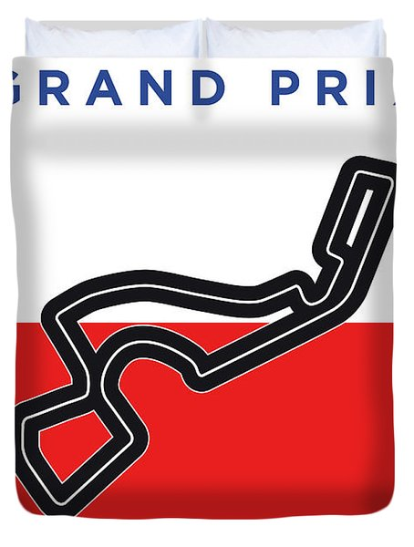 My Russian Grand Prix Minimal Poster Duvet Cover
