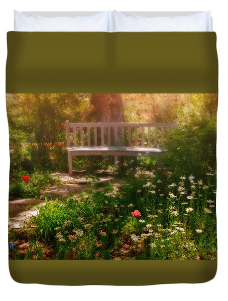 My Secret Place Duvet Cover by Carolyn Dalessandro