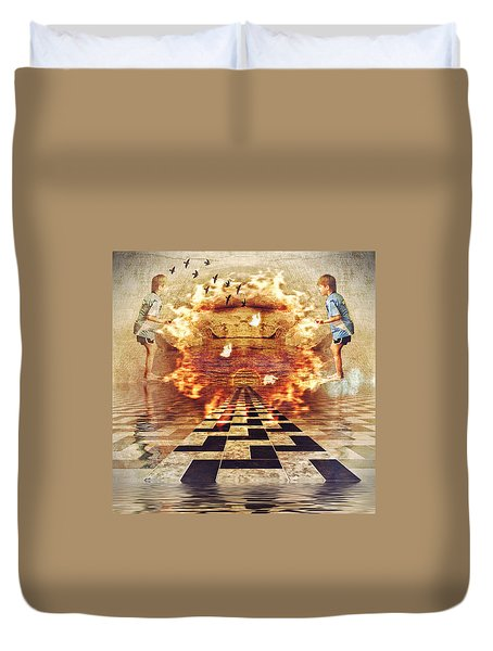 My Shadow's Reflection II Duvet Cover