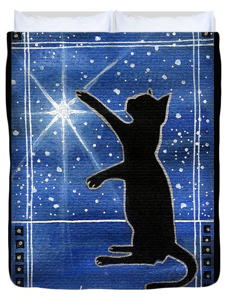 My Shinning Star - Christmas Cat Duvet Cover