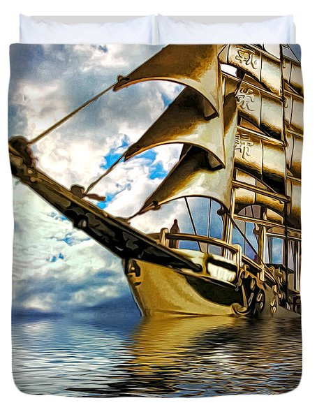 My Ship Comes In Duvet Cover by Pennie  McCracken