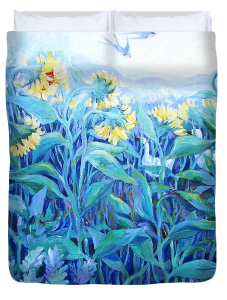 My Summer Garden  Duvet Cover by Trudi Doyle