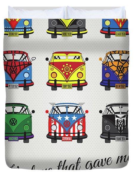 My Superhero-vw-t1-supermanmy Superhero-vw-t1-universe Duvet Cover