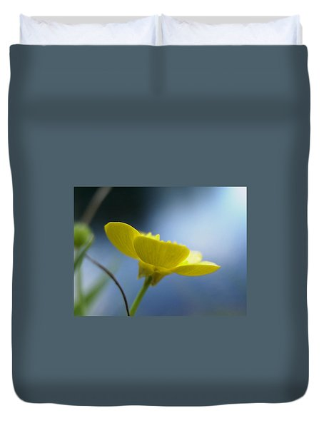 Duvet Cover featuring the painting My Sweet Buttercup by Martha Ayotte