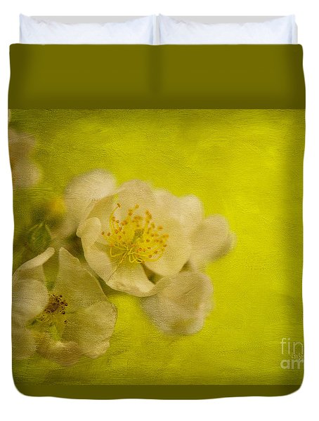 My Sweet Wild Rose Duvet Cover by Lois Bryan