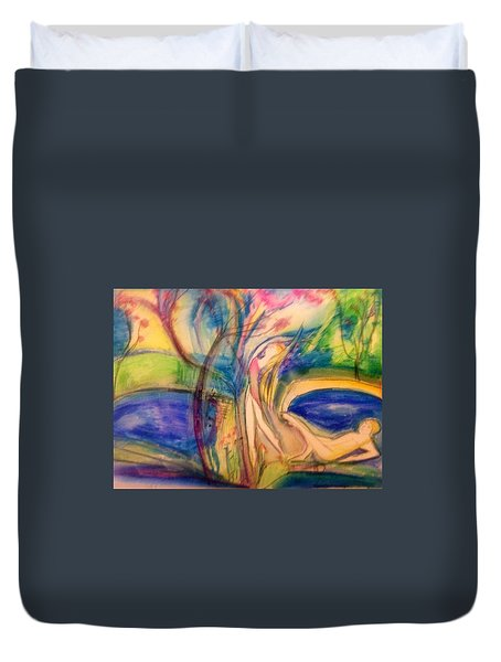 My Thoughts Are Always With You  Duvet Cover by Judith Desrosiers