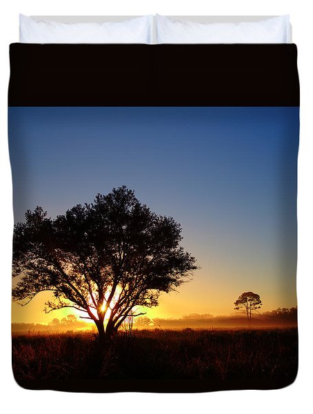 Myakka Sunrise Duvet Cover