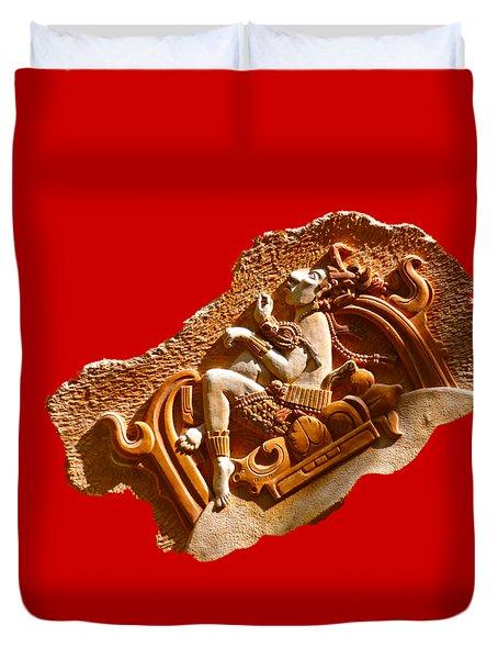 Duvet Cover featuring the digital art Myan Wall Art D by Francesca Mackenney