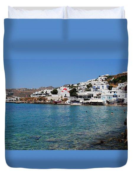 Mykonos Beach Duvet Cover