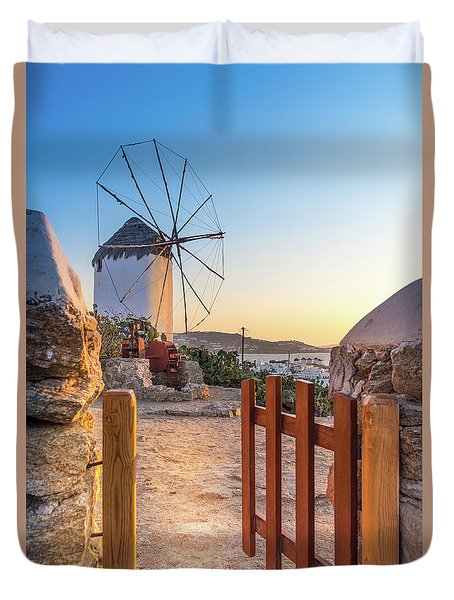 Mykonos, Greece Duvet Cover