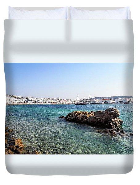 Mykonos Impression Duvet Cover