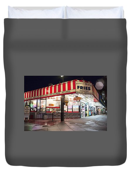 Myrtle Beach Fries Duvet Cover