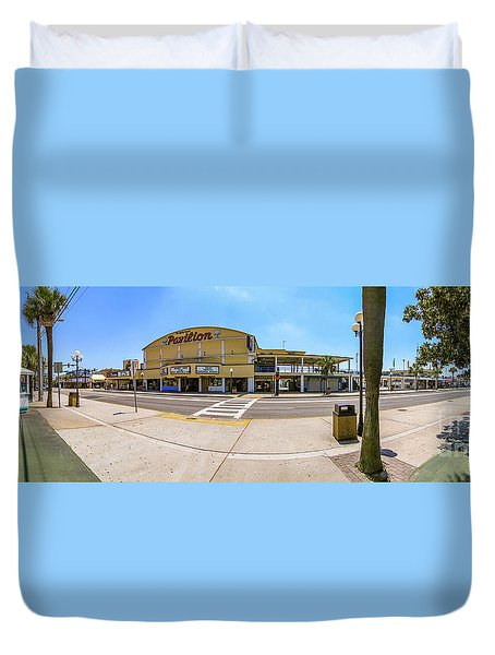 Myrtle Beach Pavilion Building Duvet Cover