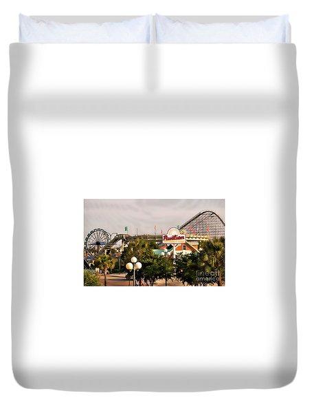 Myrtle Beach Pavillion Amusement Park Duvet Cover