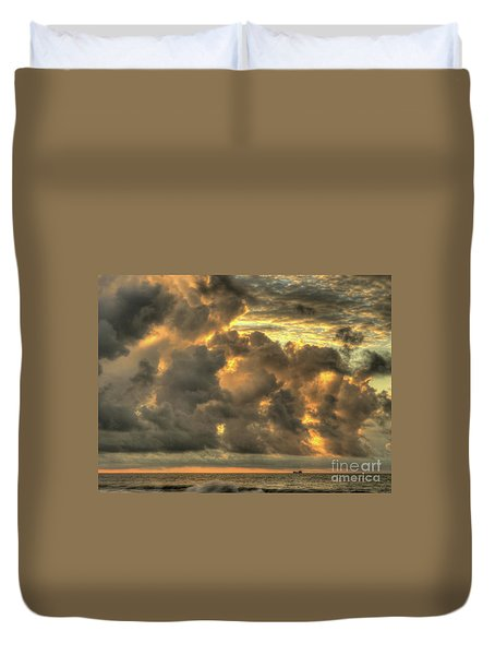 Myrtle Beach Seascape Duvet Cover