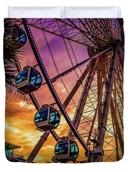 Myrtle Beach Skywheel Duvet Cover