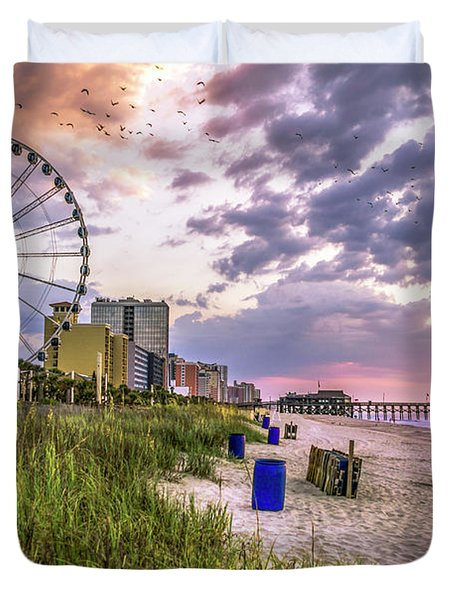 Myrtle Beach Sunrise Duvet Cover