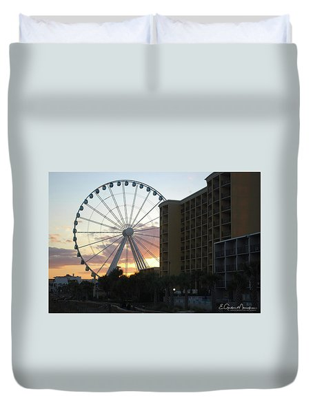 Myrtle Beach Sunset 2 Duvet Cover