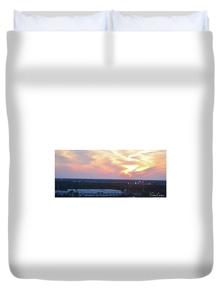 Myrtle Beach Sunset 3 Duvet Cover