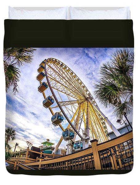 Myrtle Beach Sunset Duvet Cover