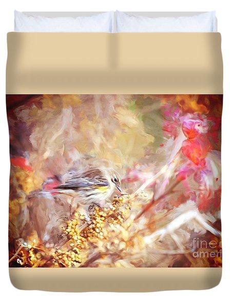 Myrtle Warbler Five Duvet Cover