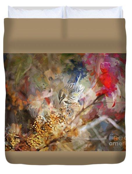 Myrtle Warbler Four Duvet Cover