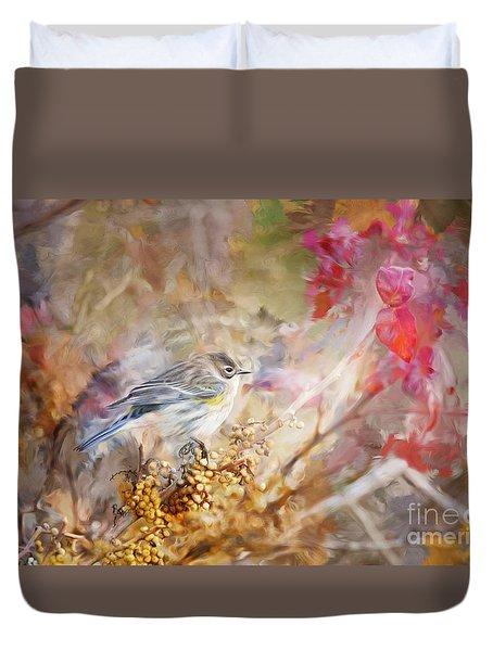 Myrtle Warbler Three Duvet Cover
