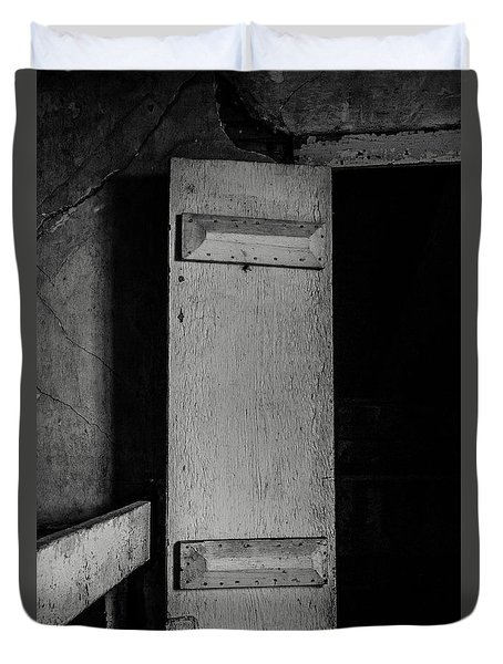Mysterious Attic Door  Duvet Cover