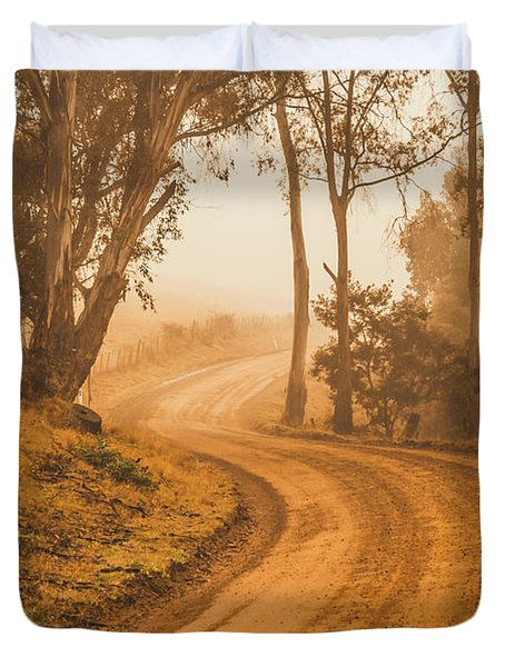 Mysterious Autumn Trail Duvet Cover